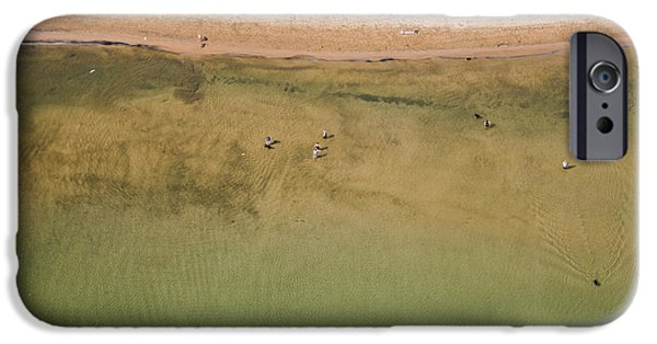 Abstract Seascape iPhone Cases - Montrose Beach Dog Park iPhone Case by Adam Romanowicz