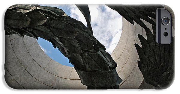 D.c. iPhone Cases - Monument Abstract iPhone Case by Valerie Tull