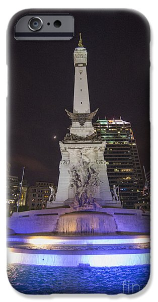 Monument Circle iPhone Cases - Monument Circle Indianapolis iPhone Case by David Haskett