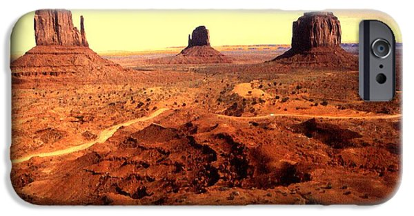 Best Buy Mixed Media iPhone Cases - Monument Valley Arizona Poster iPhone Case by Peter Fine Art Gallery  - Paintings Photos Digital Art