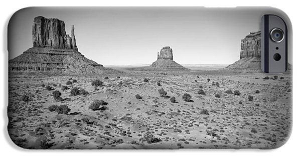 Navajo Nation iPhone Cases - Monument Valley bw iPhone Case by Melanie Viola