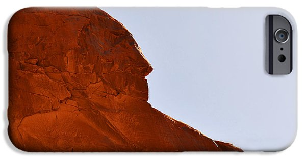 Chief iPhone Cases - Monument Valley Indian Chief iPhone Case by Christine Till