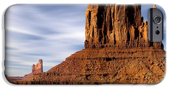 Nation iPhone Cases - Monument Valley -  Left Mitten iPhone Case by Mike McGlothlen