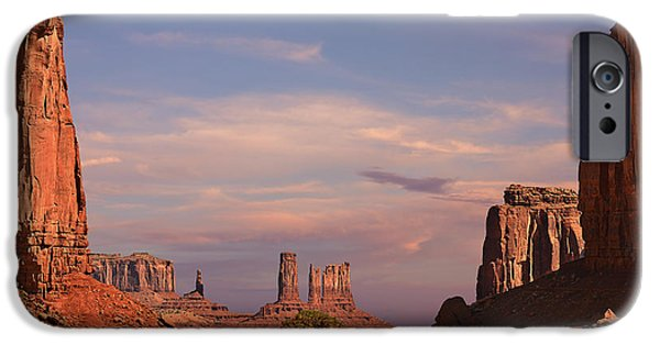 Mars iPhone Cases - Monument Valley - Mars-like terrain iPhone Case by Christine Till
