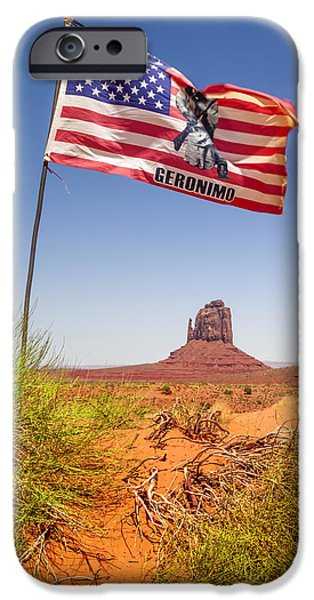 Desert Scape iPhone Cases - MONUMENT VALLEY Merrick Butte iPhone Case by Melanie Viola