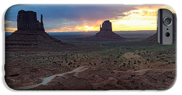 Nation iPhone Cases - Monument Valley Navajo Tribal Park An image worth more than a thousand words iPhone Case by Silvio Ligutti