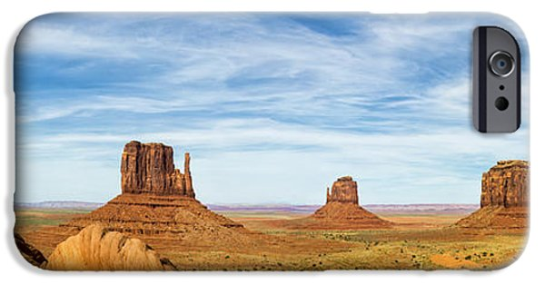 Monument Valley iPhone Cases - Monument Valley Panorama - Arizona iPhone Case by Brian Harig