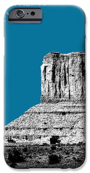 Pen And Ink Digital Art iPhone Cases - Monument Valley - Steel iPhone Case by DB Artist