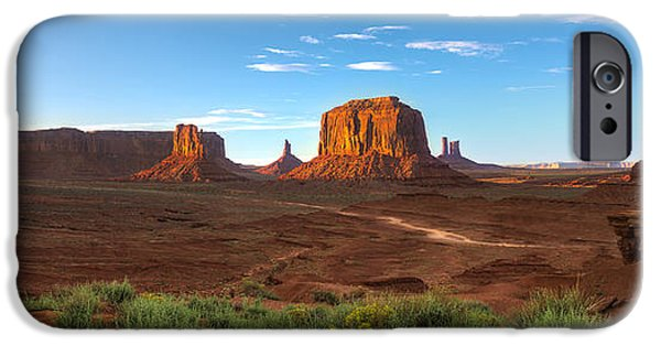 Monument Valley iPhone Cases - Monument Valley Sundown iPhone Case by Steve Gadomski