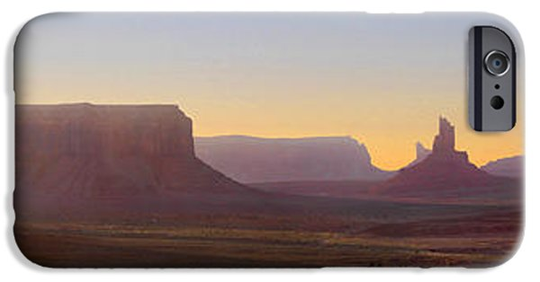 Monument Valley iPhone Cases - Monument Valley Sunset 3 iPhone Case by Mike McGlothlen