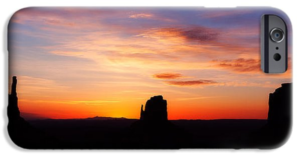 Monument Valley iPhone Cases - Monumental Sunrise iPhone Case by Darren  White