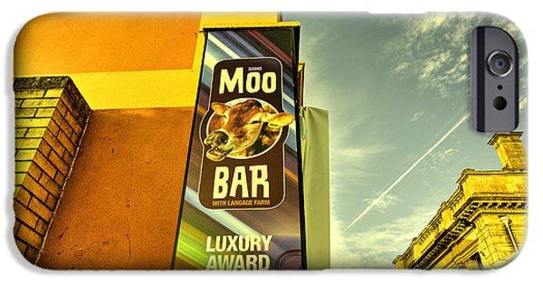 Moo Moo iPhone Cases - Moo Bar  iPhone Case by Rob Hawkins