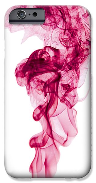Angels Smoking iPhone Cases - Mood Colored Abstract Vertical Deep Purple Smokel Art 01 iPhone Case by Alexandra K