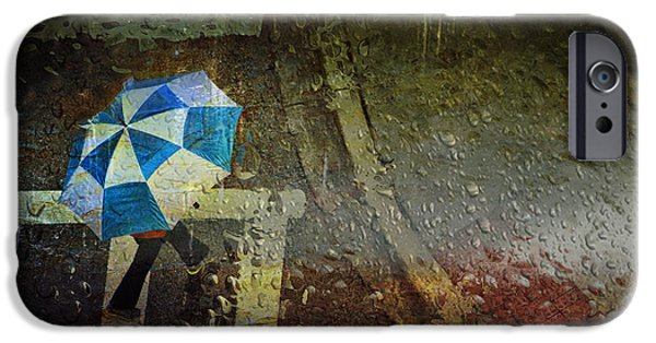 Rainy Day iPhone Cases - Moody Monday iPhone Case by Kathy Jennings