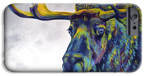 Lime iPhone Cases - Moody Moose iPhone Case by Teshia Art