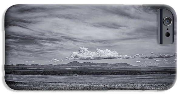 Landscape With Mountains iPhone Cases - Moody Mountains iPhone Case by Thomas Young