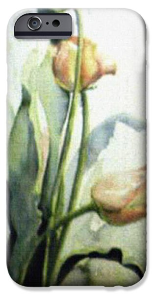 Rainy Day iPhone Cases - Moody Tulips iPhone Case by Hanne Lore Koehler