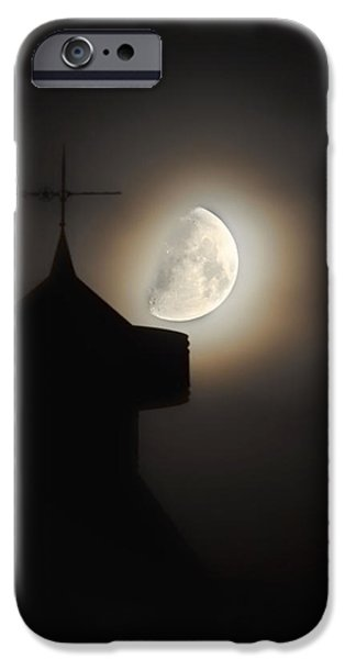 Moon Pyrography iPhone Cases - Moon 4 iPhone Case by Richard Macintyre