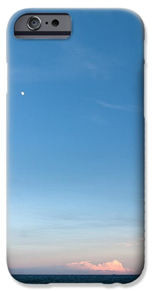 Moon and Pink Cloud iPhone Case by Michelle Wiarda
