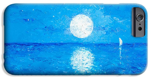 Moon Beach iPhone Cases - Moon and Stars iPhone Case by Jan Matson