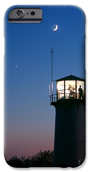 Chatham iPhone Cases - Moon And Venus iPhone Case by Chris Cook