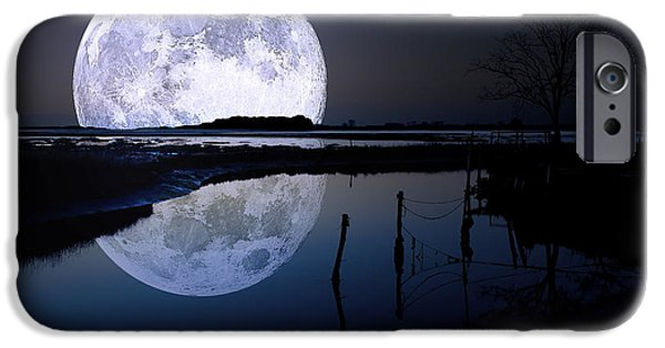 Moon iPhone Cases - Moon At Night iPhone Case by Gianfranco Weiss