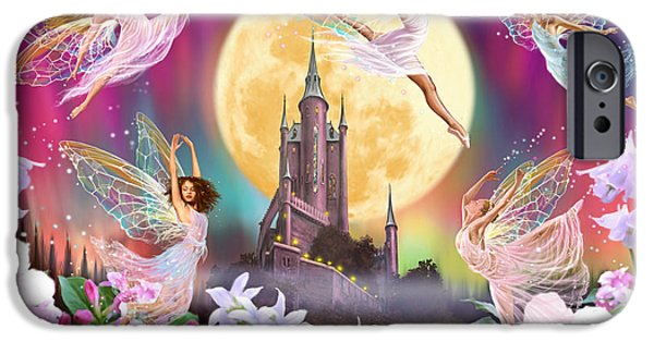 Fantasy Photographs iPhone Cases - Moon Dance iPhone Case by Garry Walton