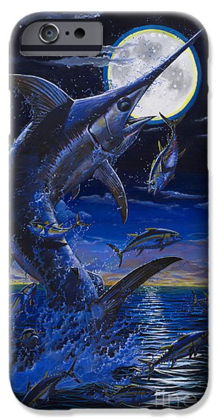 Swordfish iPhone Cases - Moon Doggie Off00124 iPhone Case by Carey Chen