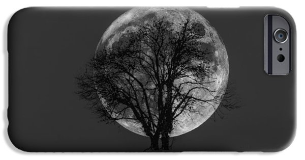 Black Tapestries - Textiles iPhone Cases - Moon Glow iPhone Case by Dennis Bucklin