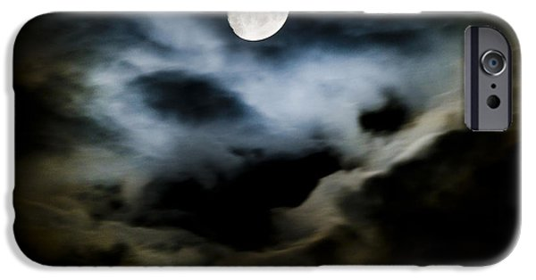 Moonscape iPhone Cases - Moon Glow iPhone Case by Steven Poulton