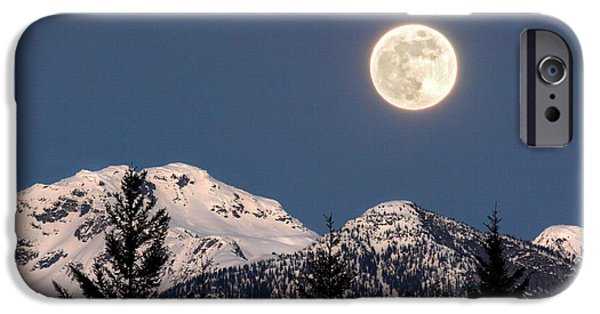 Full iPhone Cases - Moon Glow Whistler Canada iPhone Case by Pierre Leclerc Photography