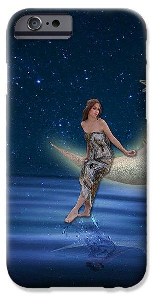 Moon Goddess iPhone Case by Juli Scalzi