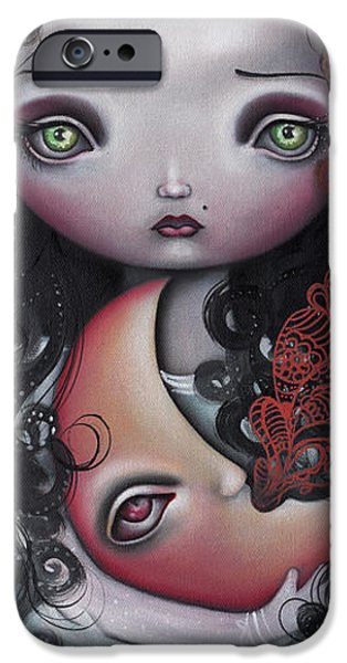 Moon Keeper iPhone Case by  Abril Andrade Griffith