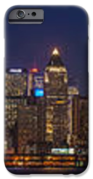 Moon Over Manhattan iPhone Case by Mike Reid