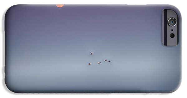 Shore Excursion iPhone Cases - Moon Over Milacs iPhone Case by Paul Freidlund