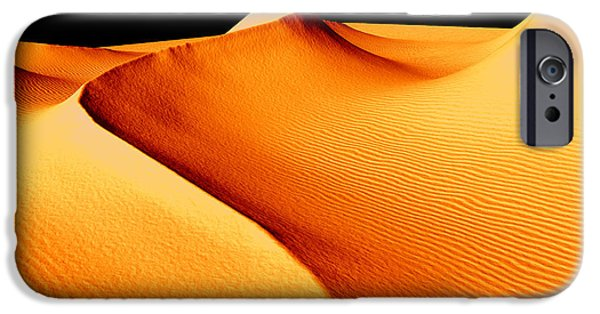 Sand Dunes Mixed Media iPhone Cases - Moon Over Sand Dunes iPhone Case by Barbara Milton