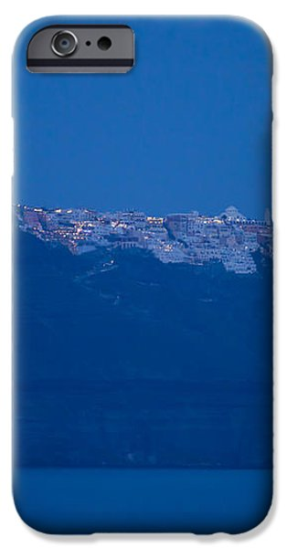 Moon Over Santorini iPhone Case by Brian Jannsen