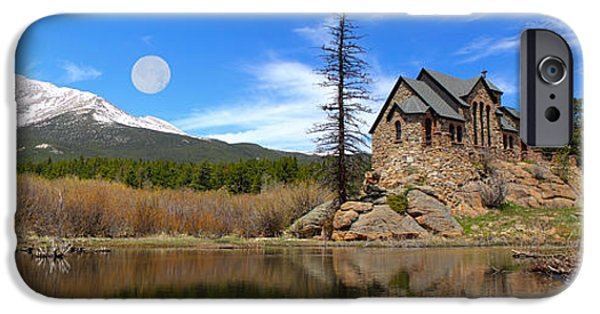 Cathedral Rock iPhone Cases - Moon Over St. Malo iPhone Case by Shane Bechler