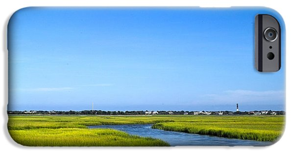 Tidal Creek iPhone Cases - Moon Over Tidal Creek iPhone Case by John Lindroth