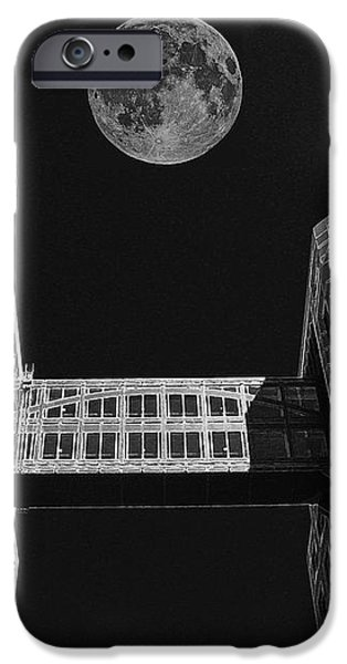 Moon Over Twin Towers iPhone Case by Samuel Sheats