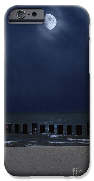 Sea Moon Full Moon Photographs iPhone Cases - Moon Over Waters iPhone Case by Margie Hurwich