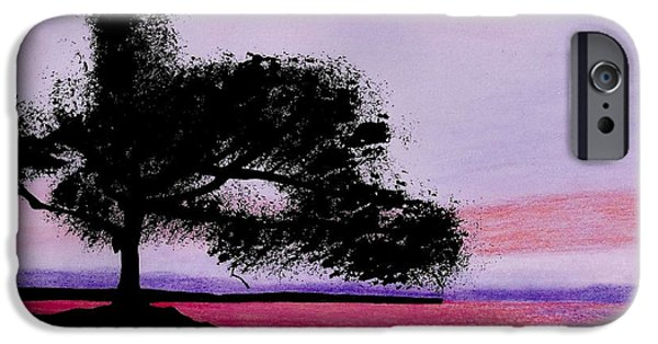 Moonscape Drawings iPhone Cases - Moon Rise iPhone Case by D Hackett