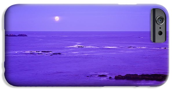 Moonscape iPhone Cases - Moon Rises Over Monashka Bay At Ft iPhone Case by Michael DeYoung