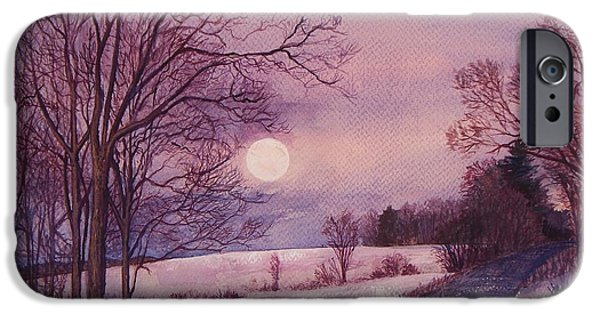 Best Sellers -  - Wintertime iPhone Cases - Moon Rising iPhone Case by Joy Nichols