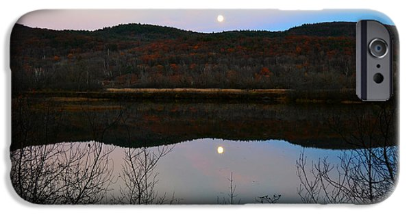 Moonscape iPhone Cases - Moon Rising iPhone Case by Monica Lee