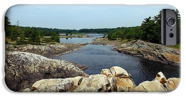 Ledge iPhone Cases - Moon River iPhone Case by Debbie Oppermann