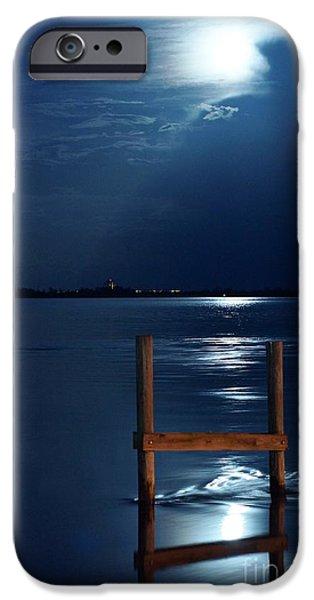 Lynda Dawson-youngclaus Photographer iPhone Cases - Moon River iPhone Case by Lynda Dawson-Youngclaus