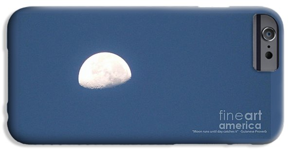 Moonscape iPhone Cases - Moon Run iPhone Case by Amar Sheow