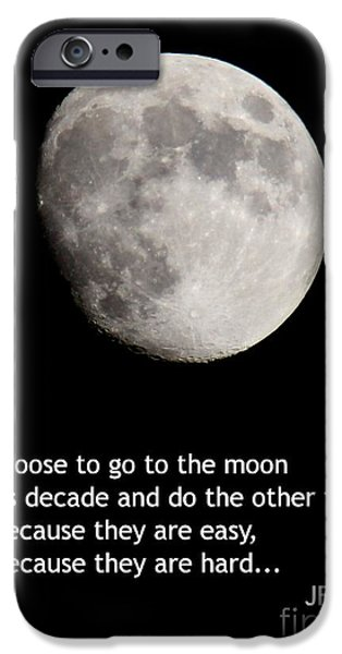 Recently Sold -  - President iPhone Cases - Moon Speech iPhone Case by Kenny Glotfelty