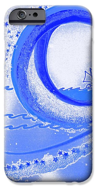 Moon Surfing 1 by jrr iPhone Case by First Star Art